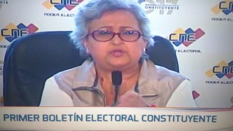 Primer boletín del CNE elección ANC