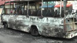 autobus incendiado