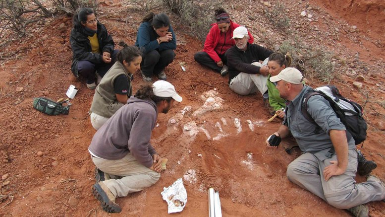 fosil de dinosaurio en argentina