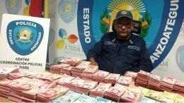 Policía de Anzoátegui incautó más de un millardo de bolívares en efectivo