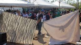 campamento de venezolanos en barranquilla
