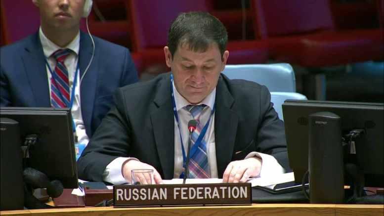 Dmitry Polyanskiy Portavoz ONU Rusia