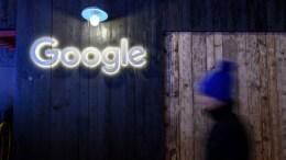 Google exhibición en Davos