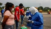 Contro sanitario en la frontera