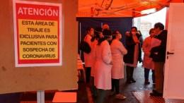 ärea de Triaje en el Hospital de Burgos España