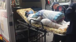 Ambulancia traslada a niño con quemaduras
