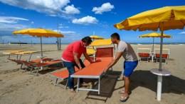 Italia prepara sus playas pospandemia