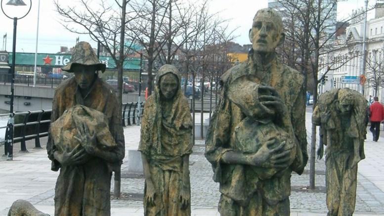 Memorial de la Gran Hambruna Irlandesa en Dublín
