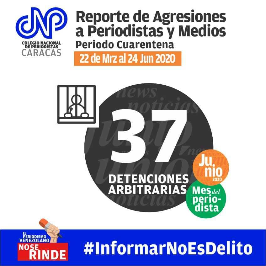 CNP agresiones a periodistas en Venezuela