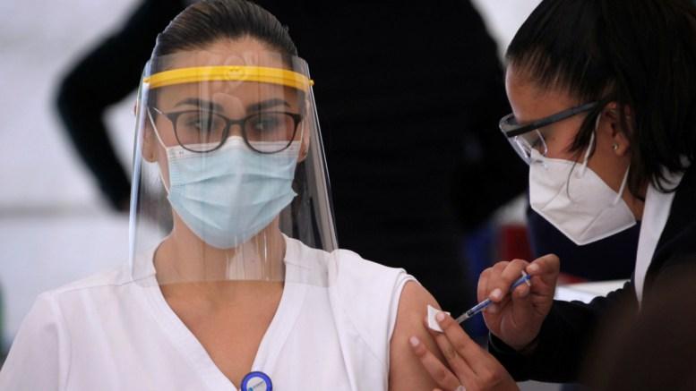 Aplicación de vacunas en Mexico