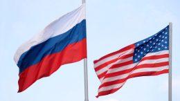 Banderasde Rusia y Estados Unidos