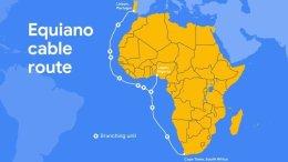 Ruta del cable submarino de Google África Europa