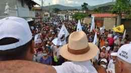 Johel Orta concentración en Aragua de Maturín estado Monagas