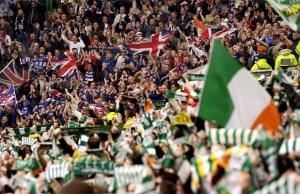 celtic v rangers old firm fans picture martin shields