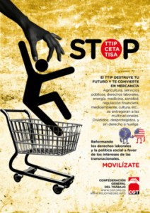 Cartel TTIP animado