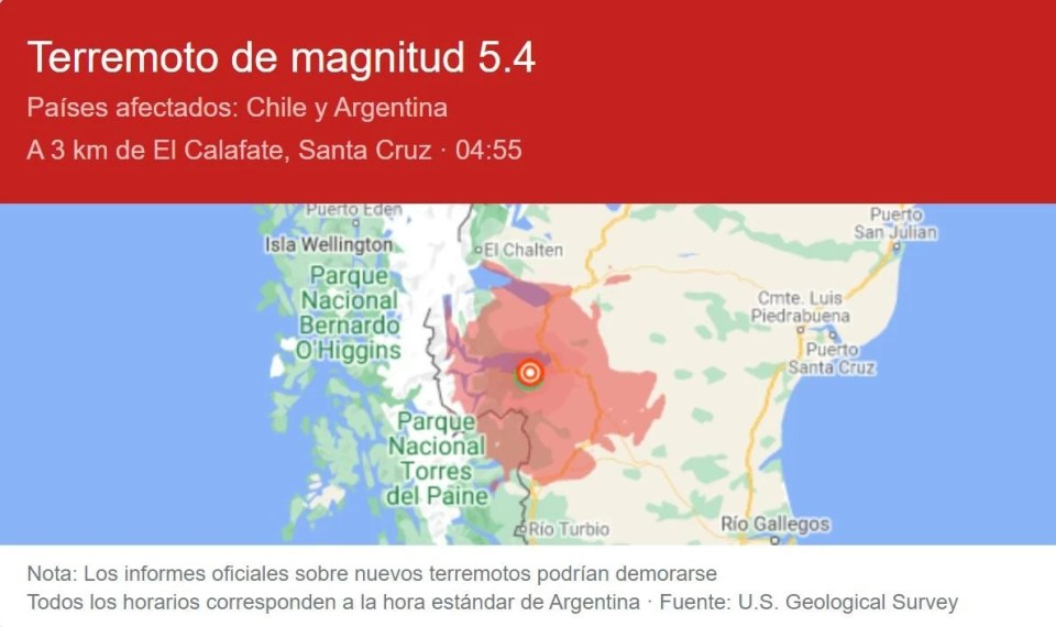 sismo calafate oct 21