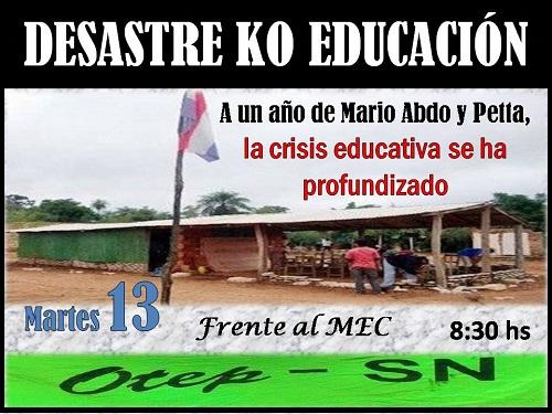 EDUCACION DESASTRE