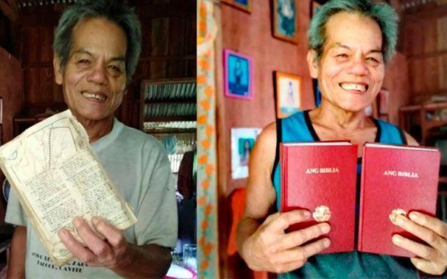 Anciano pide una Biblia Nueva.