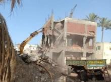 Iglesia derribada en Egipto