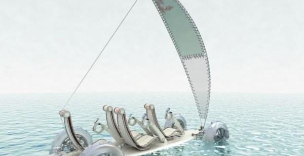 171fc14b49a79ea979710de5b3402b30 - SandYou un Concept Car eléctrico, anfibio y con forma de tabla de surf