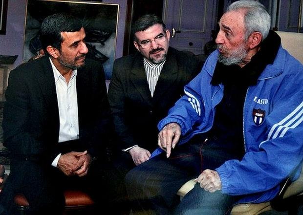 Fidel Castro, reunido con el presidente iraní, Mahmud Ahmadinejad