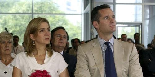 Iñaki Urdangarín y la Infanta Cristina durante un acto en Washington