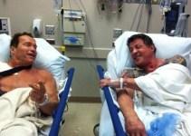 67909fecdedbae08214b0f676104af58 - Arnold Schwarzenegger y Sylvester Stallone, juntos en el hospital