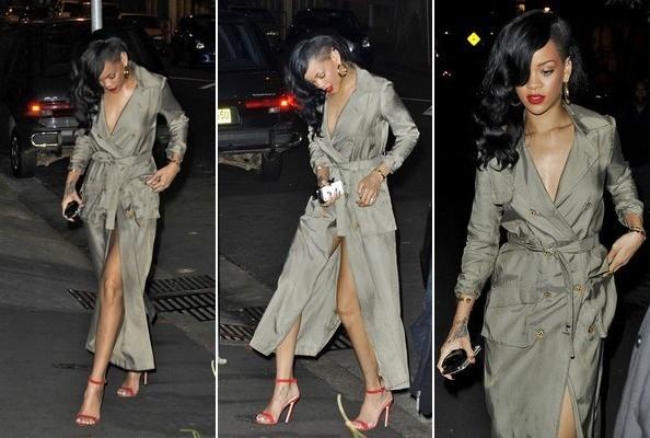 rihanna 2 - Rihanna salió a cenar desnuda