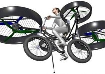 fa2a99fd7714764e5e597c0480a9332e - La primera bicicleta voladora (vídeo)