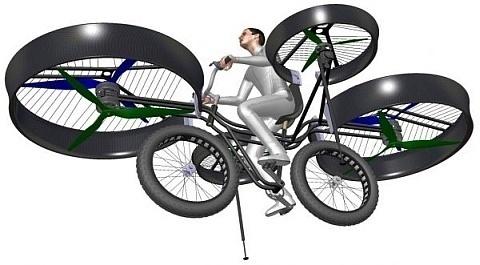 Tal como soñó Julio Verne, la bicicleta tiene la capacidad de volar de tres a cinco minutos a 50 kilómetros por hora