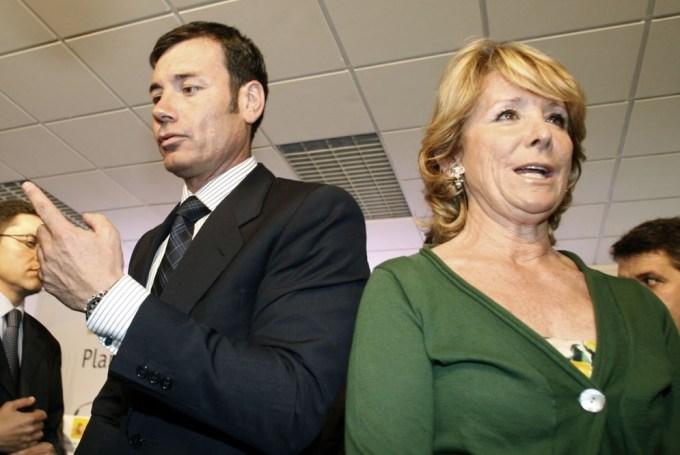 Esperanza Aguirre y Tomás Gómez