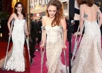 e2ac308650e9eb88d720f3a51eea7fa5 - El mal momento de Kristen Stewart: sola y con muletas en los Oscar