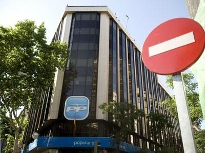 Sede del Partido Popular en la calle Génova, numero 13 Madrid