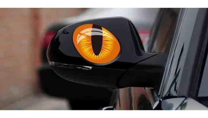 """Pegatina para coche """"ojos de gato"""""""