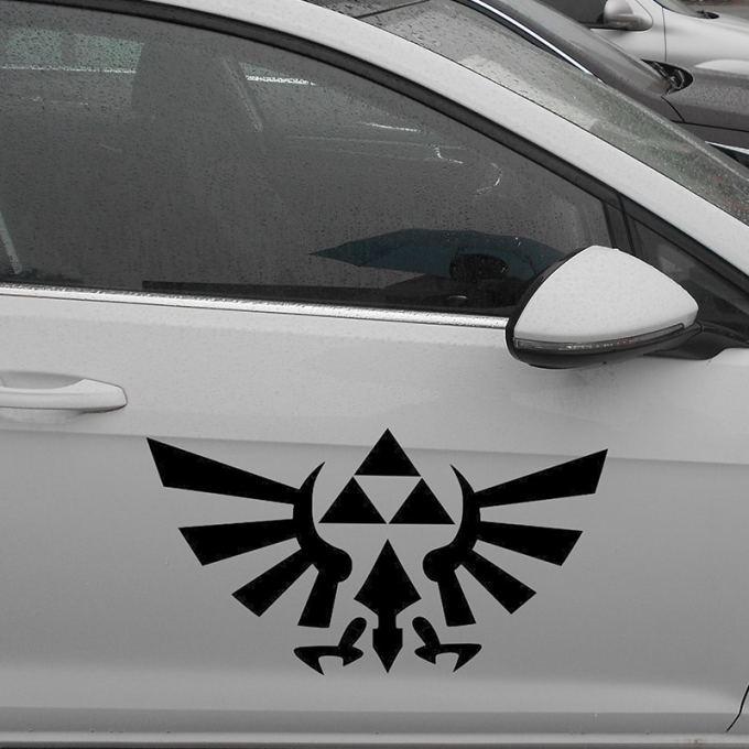 """Pegatinas para carro y coche """"Zelda Triforce"""""""
