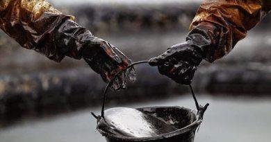 Petróleo en un cubo
