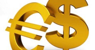 Euro Dólar logo dorado