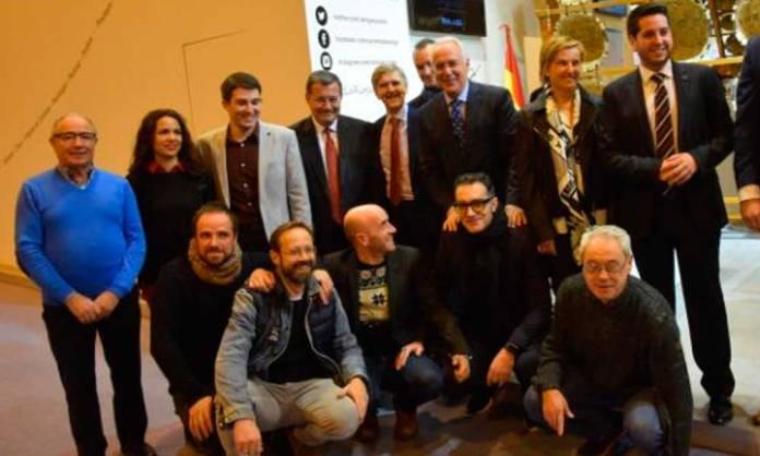 Delegación arnedana con el Presidente del Gobierno de La Rioja en FITUR 2017