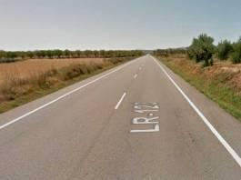 Carretera LR-123 entre Arnedo y El Villar de Arnedo