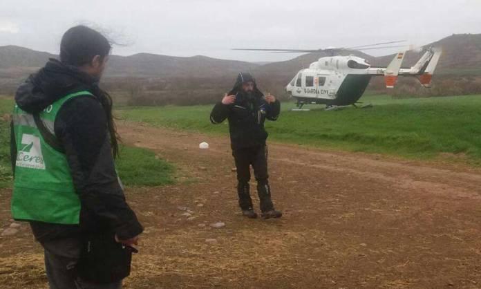 El Grupo de Perros de Rescate y Salvamento y Guardia Civil en una operativo en Ausejo