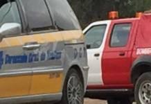Policía Local de Arnedo y Bomberos del CEIS en una intervención en Arnedo
