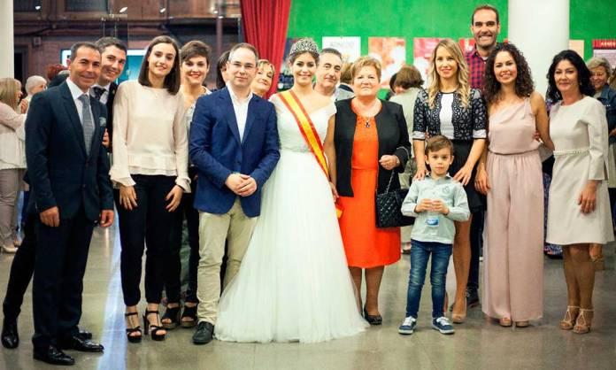 Familiares de Sofía Ezquerro en el Pregón de Fiestas