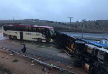 Imagen del Accidente en Ciudad Real (Twitter)
