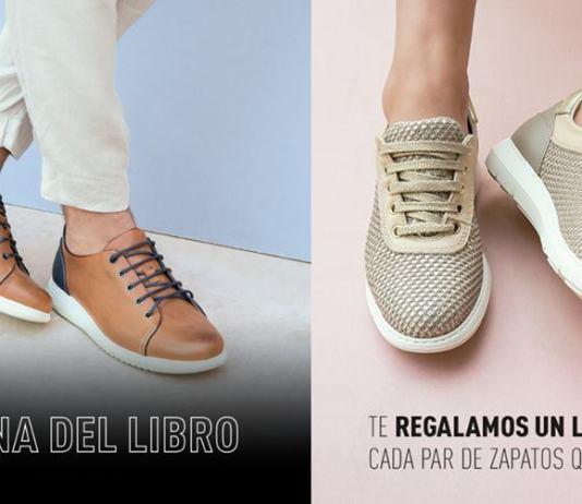 Promoción de On Foot de su campaña de regalo de libros con la compra de zapatos en tienda online