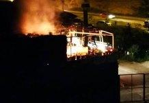 Incendio en la vivienda del camino Vallalope de Arnedo