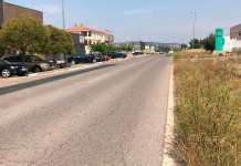 Zona del Polígono El Planarresano de Arnedo donde se ha registrado la colisión