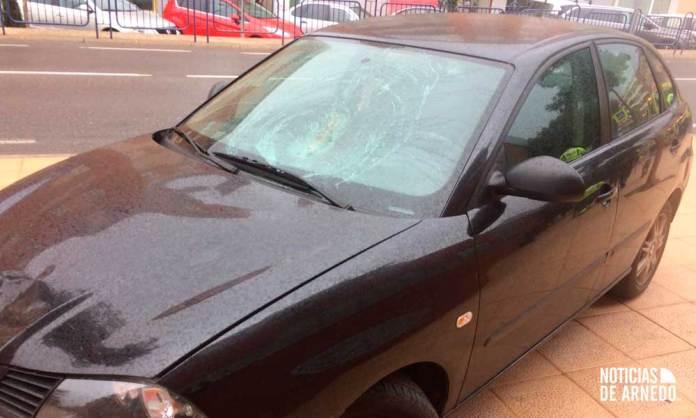 Estado del vehículo tras el atropello mortal en Arnedo