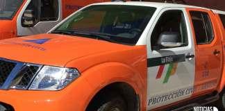 Vehículos de la Agrupación Municipal de Voluntarios de Protección Civil en Arnedo