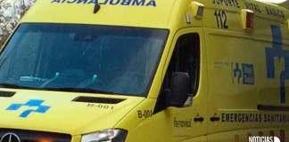 Ambulancia de Soporte Vital Básico del Servicio Riojano de Salud (SERIS) y Ferrovial