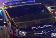 Vehículo de la Policía Nacional en Arnedo